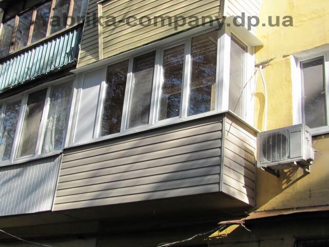 Балкон Г-образный без выноса - фото