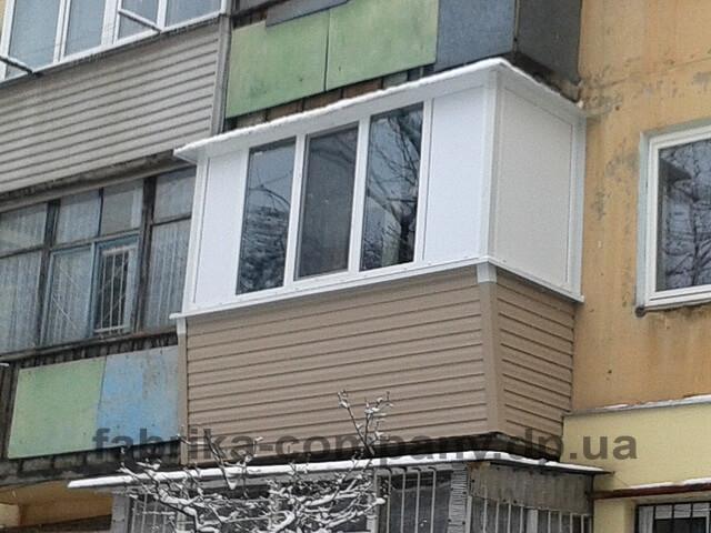 Балкон Г-образный с выносом фасадной части - фото