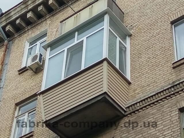 Балкон П-образный с выносом по периметру - фото
